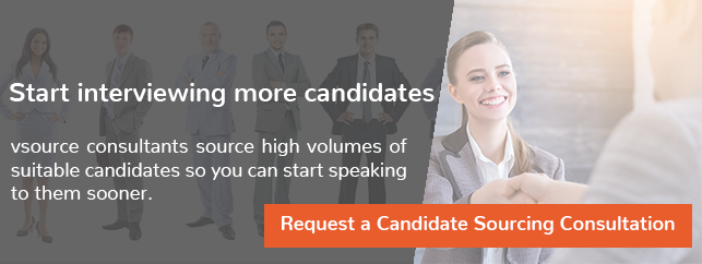 Start interviewing more candidates with vsource high volume candidate sourcing